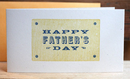 Starshaped Press Father's Day Card