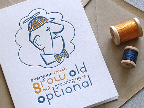 Sweet Harvey Letterpress Birthday Card