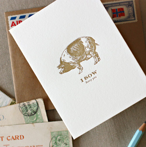 I Sow Letterpress Card