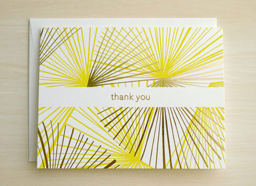 Modern Patterned Thank You Cards