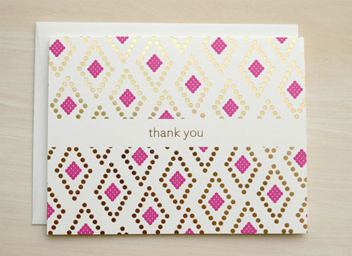 Gold Foil Stamped Thank You Cards