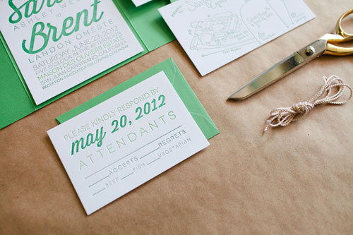 Custom Letterpress Wedding Suite by Beloved Indeed Paperie