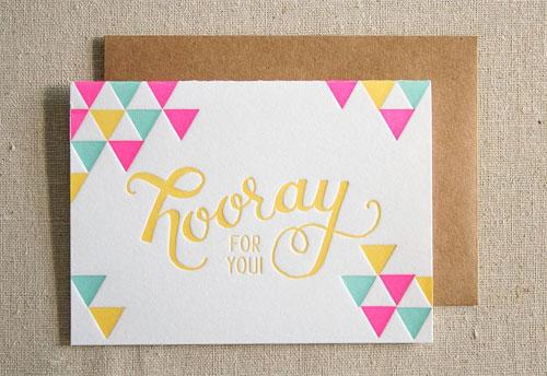 Hooray Letterpress Card