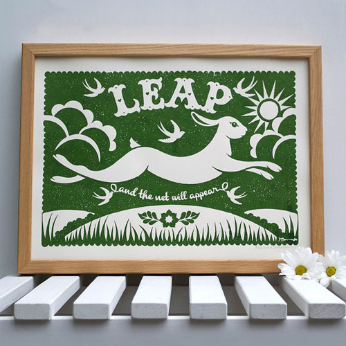 Leap Screenprint by Alexandra Snowdon