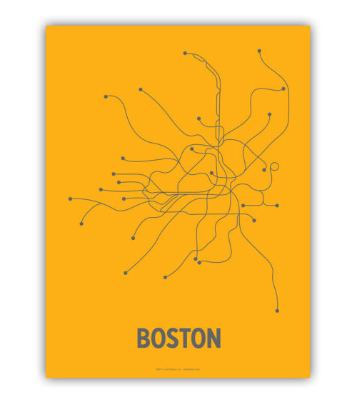 "Boston Subway ""T"" Poster"