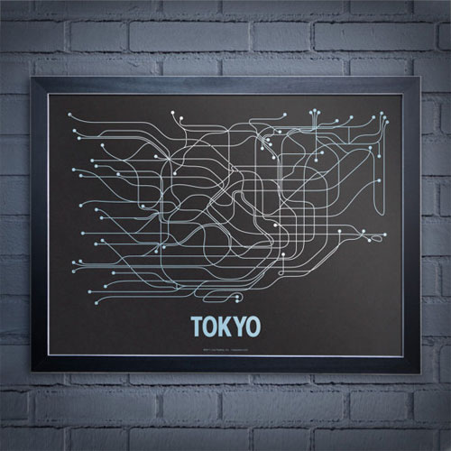 Tokyo Subway Line Poster