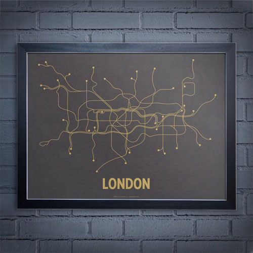 London Subway Line Poster