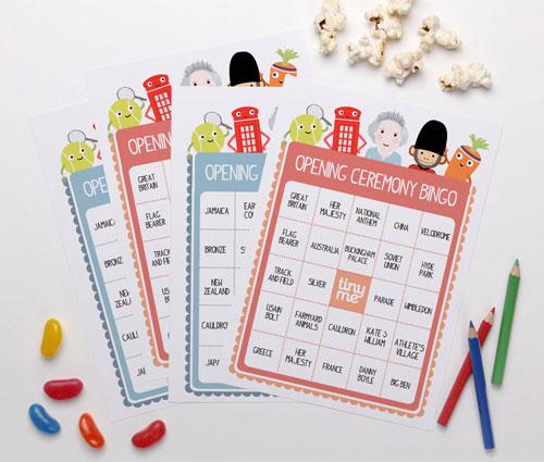 Printable Olympics Opening Ceremony Bingo