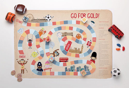 Printable Go for Gold Board Game