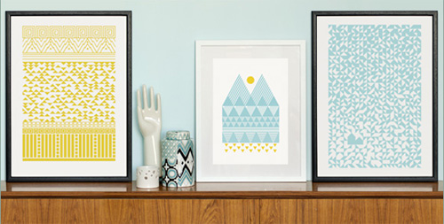Geometric Screen Prints by Enclosed Studio