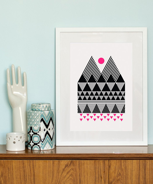 Two Peaks Screen Print