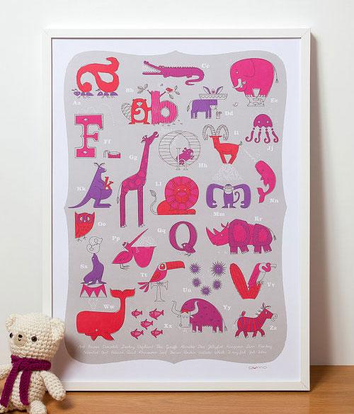 Gumo Alphabet Print
