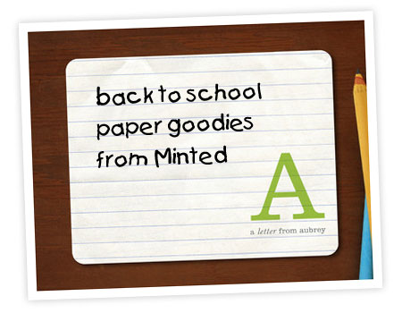 Minted Back to School Paper Goodies