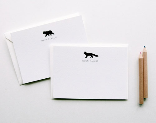 Letterpress Children's Stationery