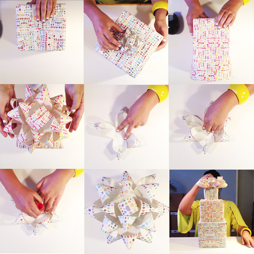 DIY Gift Wrap + Bow