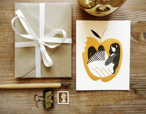 Snow White Letterpress Card