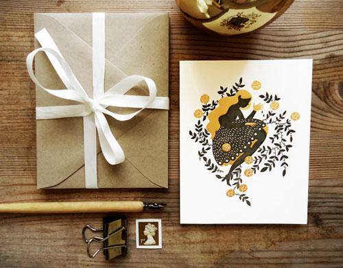 Sleeping Beauty Letterpress Card