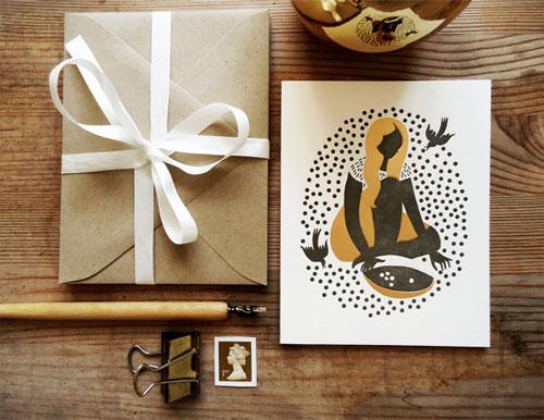Cinderella Letterpress Card