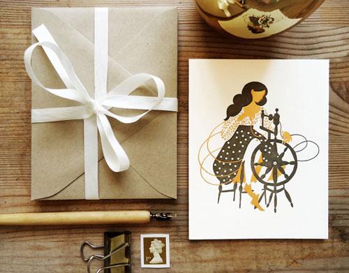 Rumpelstiltskin Letterpress Card
