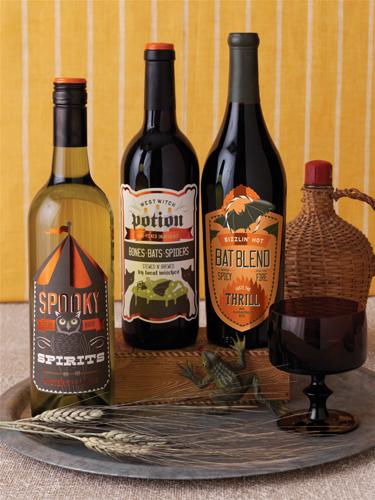 Martha Stewart Halloween Carnival Beverage Labels