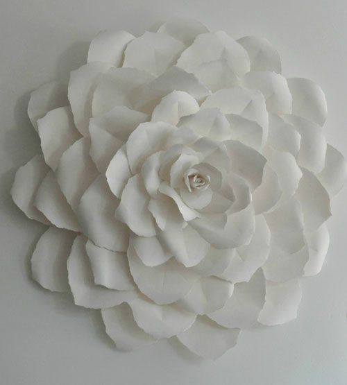 Rose Paper Sculpture