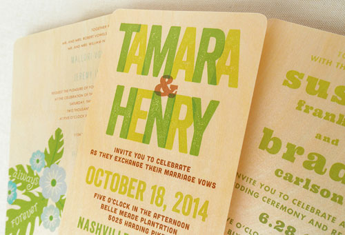 Birch Wood Wedding Invites