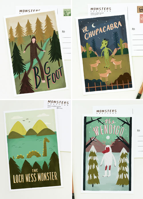 Monster Postcards