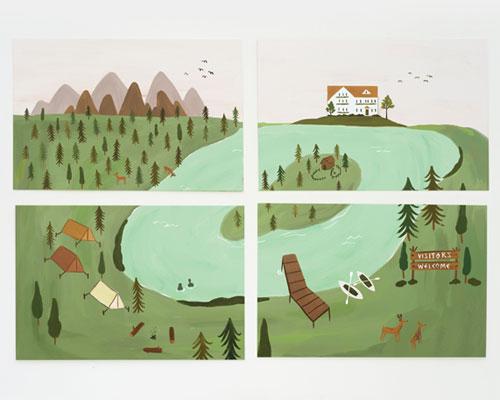Forest Postcards