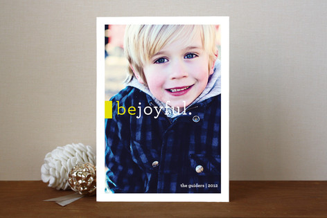 Be Joyful Holiday Photo Cards