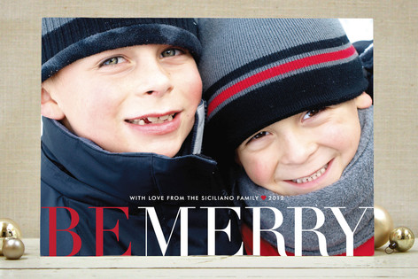 Big and Merry Holiday Photo Cards