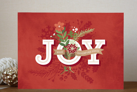 Bouquet of Joy Business Holiday Cards