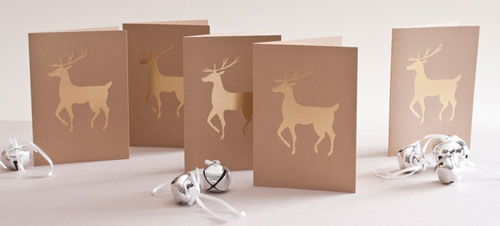 Brown Paper Holiday Cards