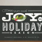 Casual Chalkboard Business Holiday Cards