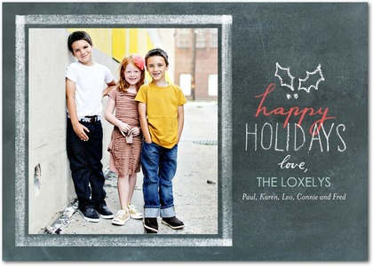 Christmas Chalk Photo Cards