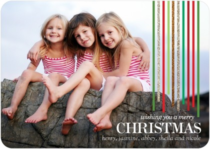 Falling Wonder Christmas Photo Cards