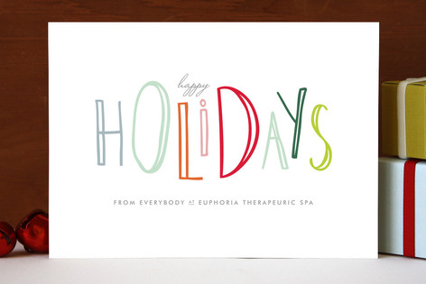 Happy go lucky holidays business holiday cards by up up creative happy go lucky holidays business holiday cards colourmoves