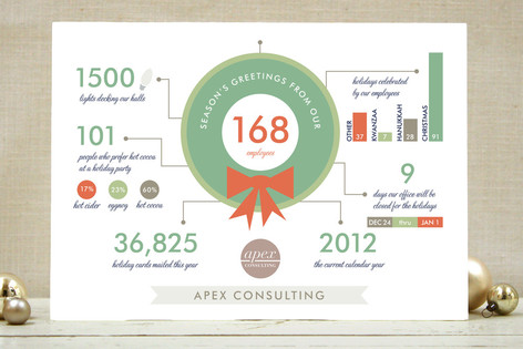 Holiday infographics business holiday cards by frooted design holiday infographics business holiday cards colourmoves
