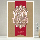 Kraft Ribbon Christmas Cards
