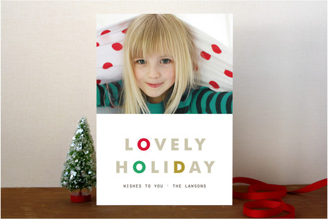 Lovely Rhythm Holiday Photo Cards