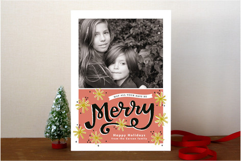 Merry Snowflakes Holiday Photo Cards