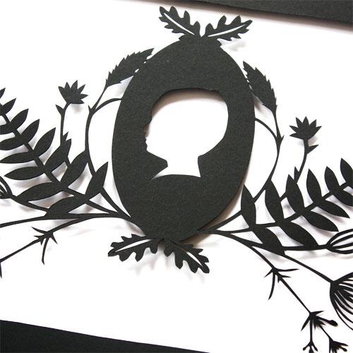 Hand Cut Paper Cut Silhouette Detail