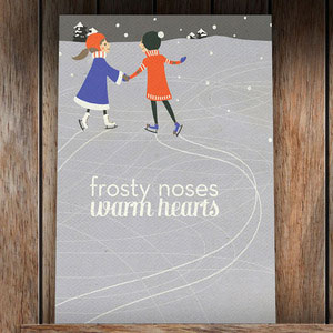 """Frosty Noses, Warm Hearts"" Holiday Card"