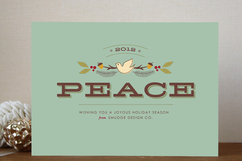 Peaceful wishes business holiday cards by smudge design peaceful wishes business holiday cards colourmoves