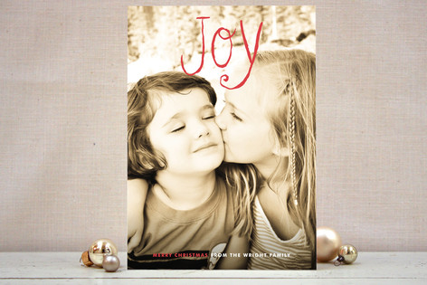 Pride and Joy Holiday Photo Cards