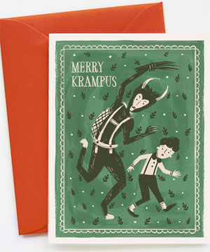 Merry Krampus Holiday Card