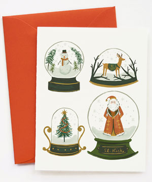 Snow Globe Holiday Card