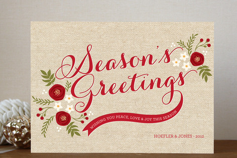 Rustic seasons greeting business holiday cards by gakemi art design rustic seasons greeting business holiday cards m4hsunfo Choice Image