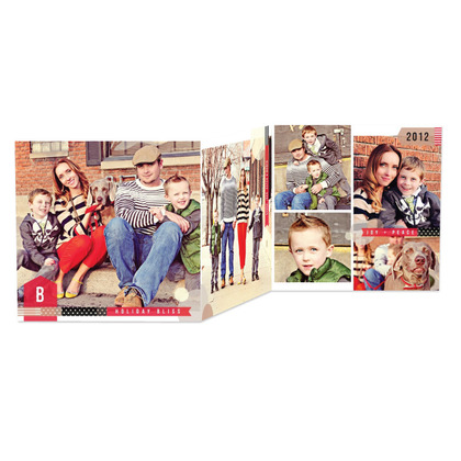 Taped Memento Holiday Photo Cards