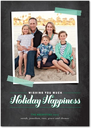 Wishful Happiness Holiday Photo Cards