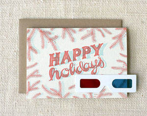 3D Happy Holidays Card